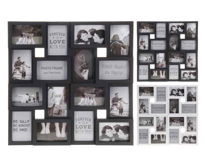 Fotoramme for 16 billeder, kvardratisk
