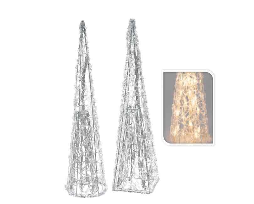 Pyramide med 35 led lys. 57 cm.