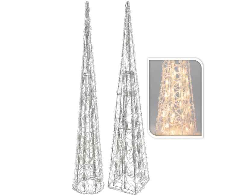 Pyramide med 50 led lys. 60 cm.