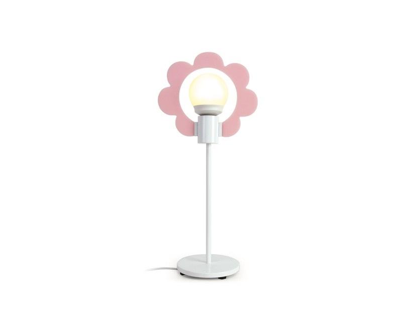 Standerlampe incl pærer. Lyserød og hvid.
