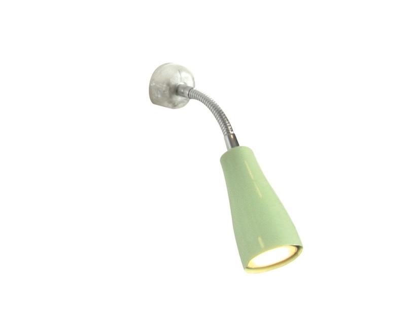 Væglampe incl pærer. Lysegrøn.