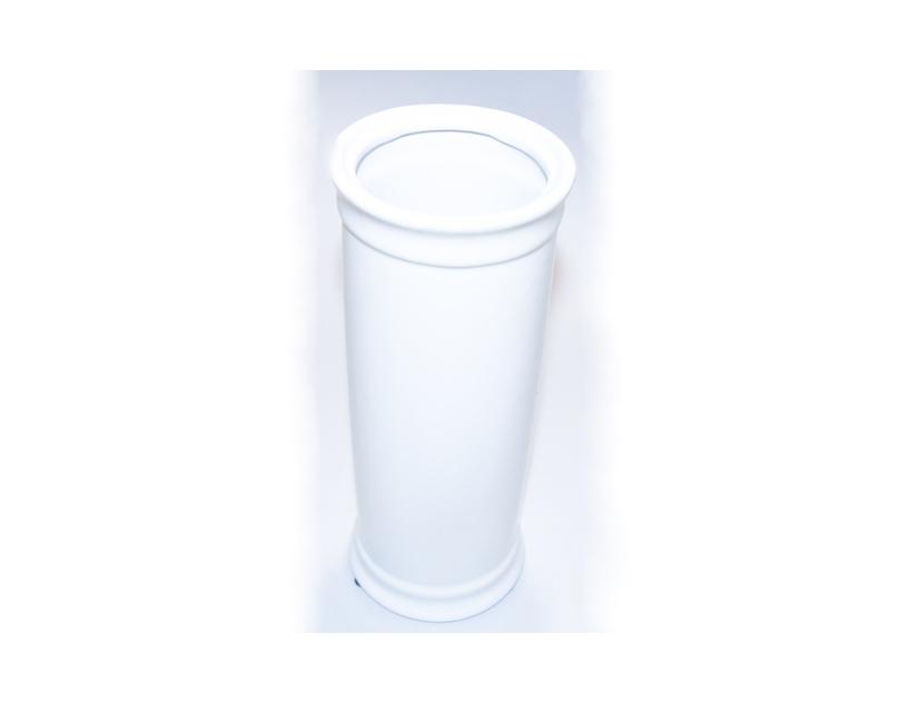 Vase, glaseret hvid, Højde 28 Ø 10 cm