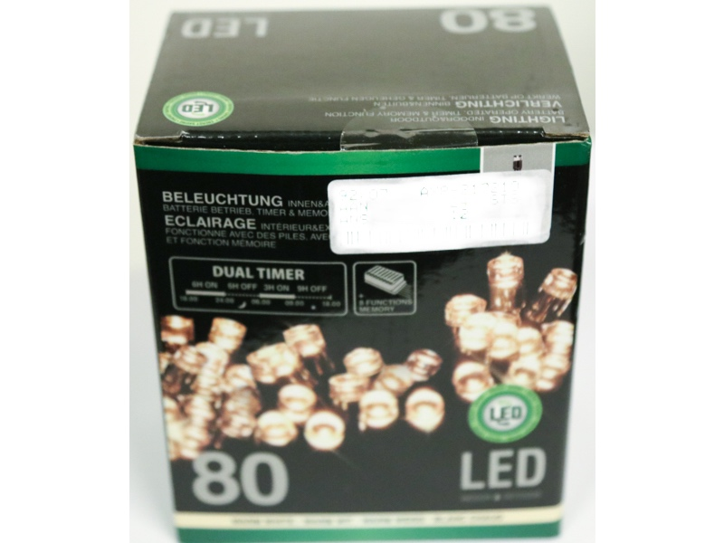 80 LED-lys