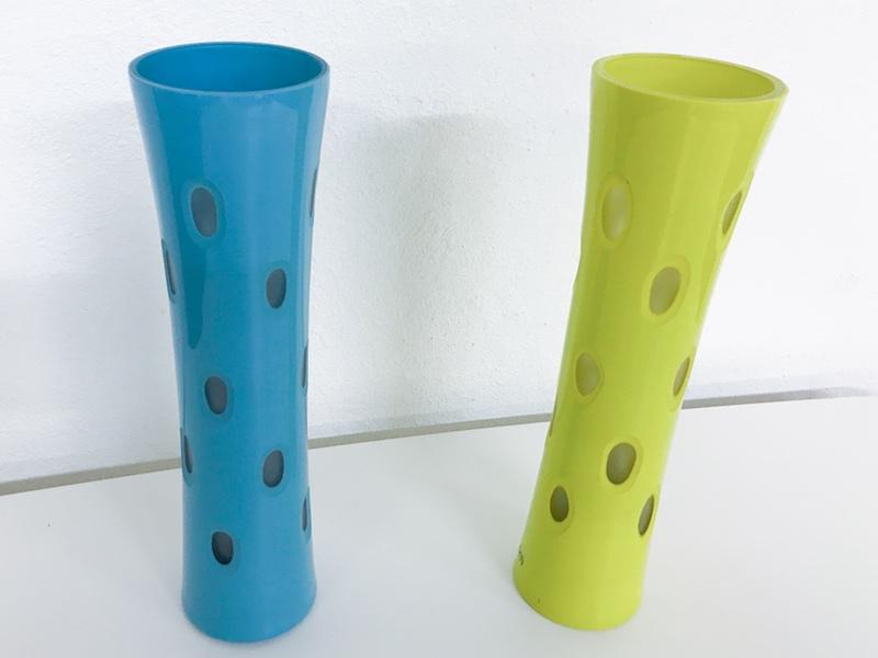 Vase Bolia gul og blå