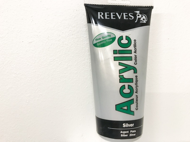 Reeves Acrylic maling Sølv