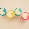 Krydderiglas i 4 farver