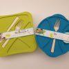 Plastikskåle til picnic eller madpakke til arbejde og skole. Fås i grøn og blå