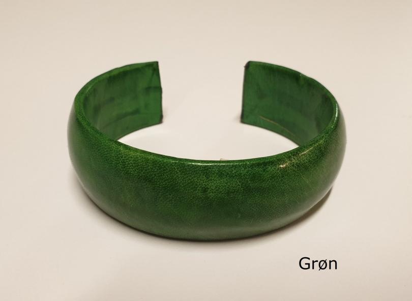 Armbånd af gedeskind grønt