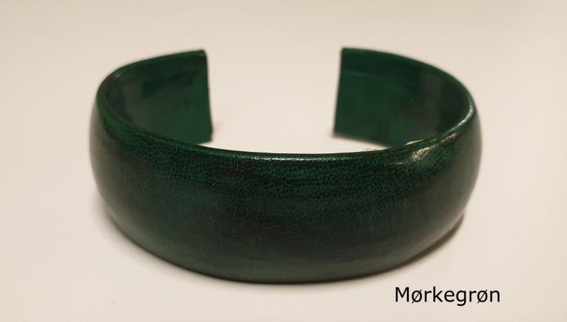Armbånd af gedeskind mørkegrøn