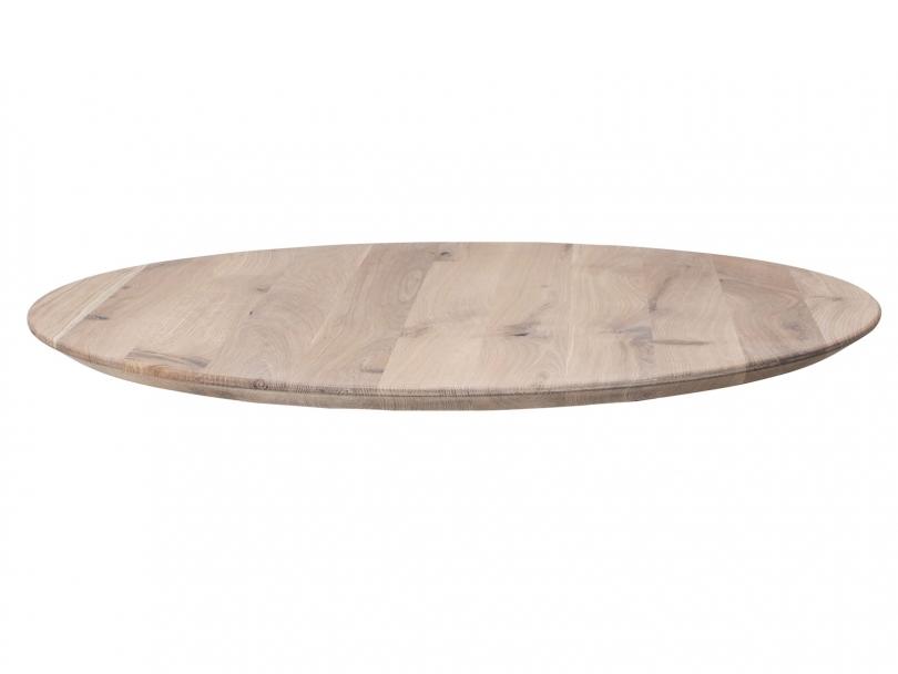 Rund bordplade hvid olie